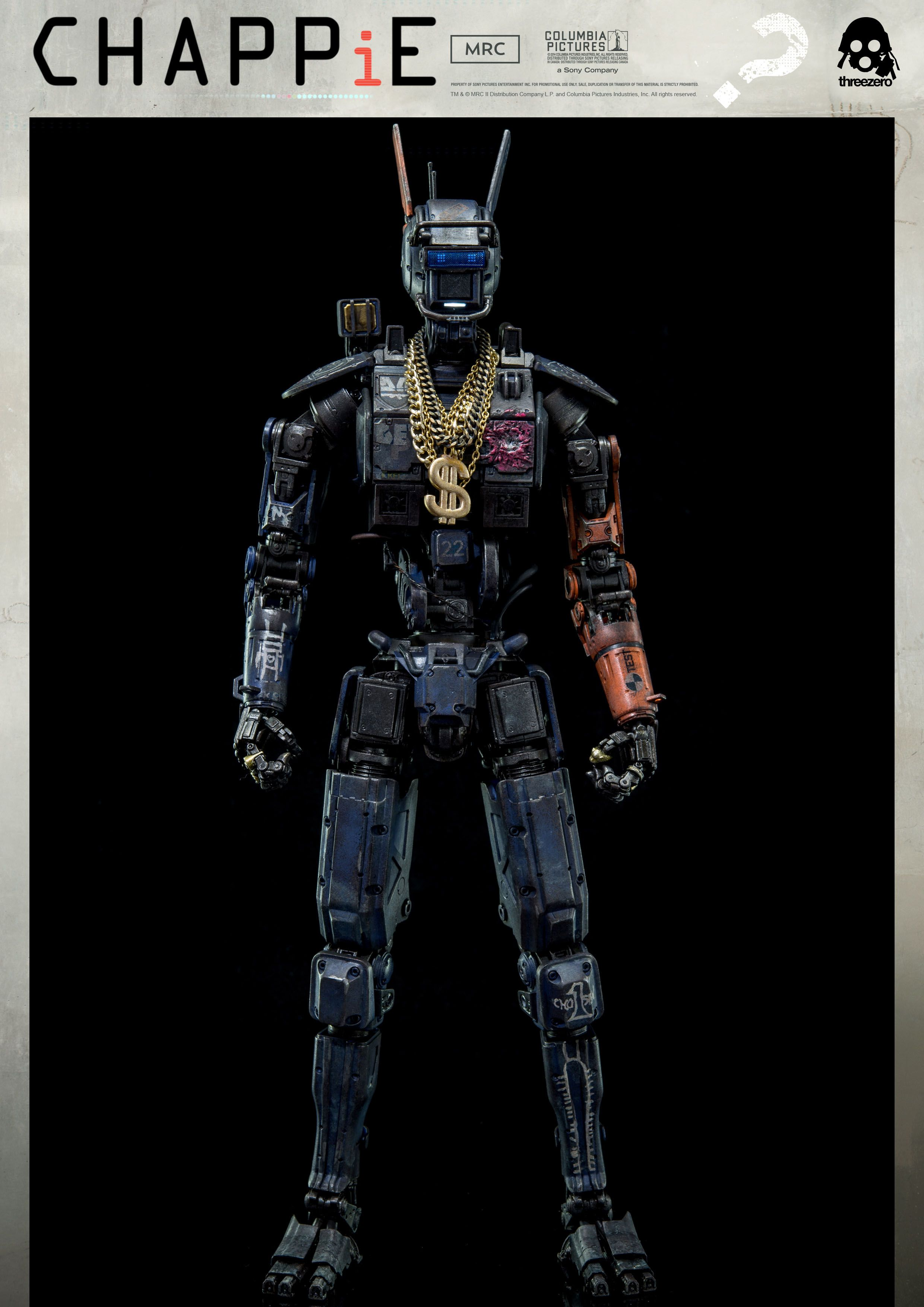 1 6th Scale Chappie Collectible Available For Pre Order On March 16th 9 00am Hong Kong Time At Www Threezerostore Com For Robot Art Robot Design Weta Workshop