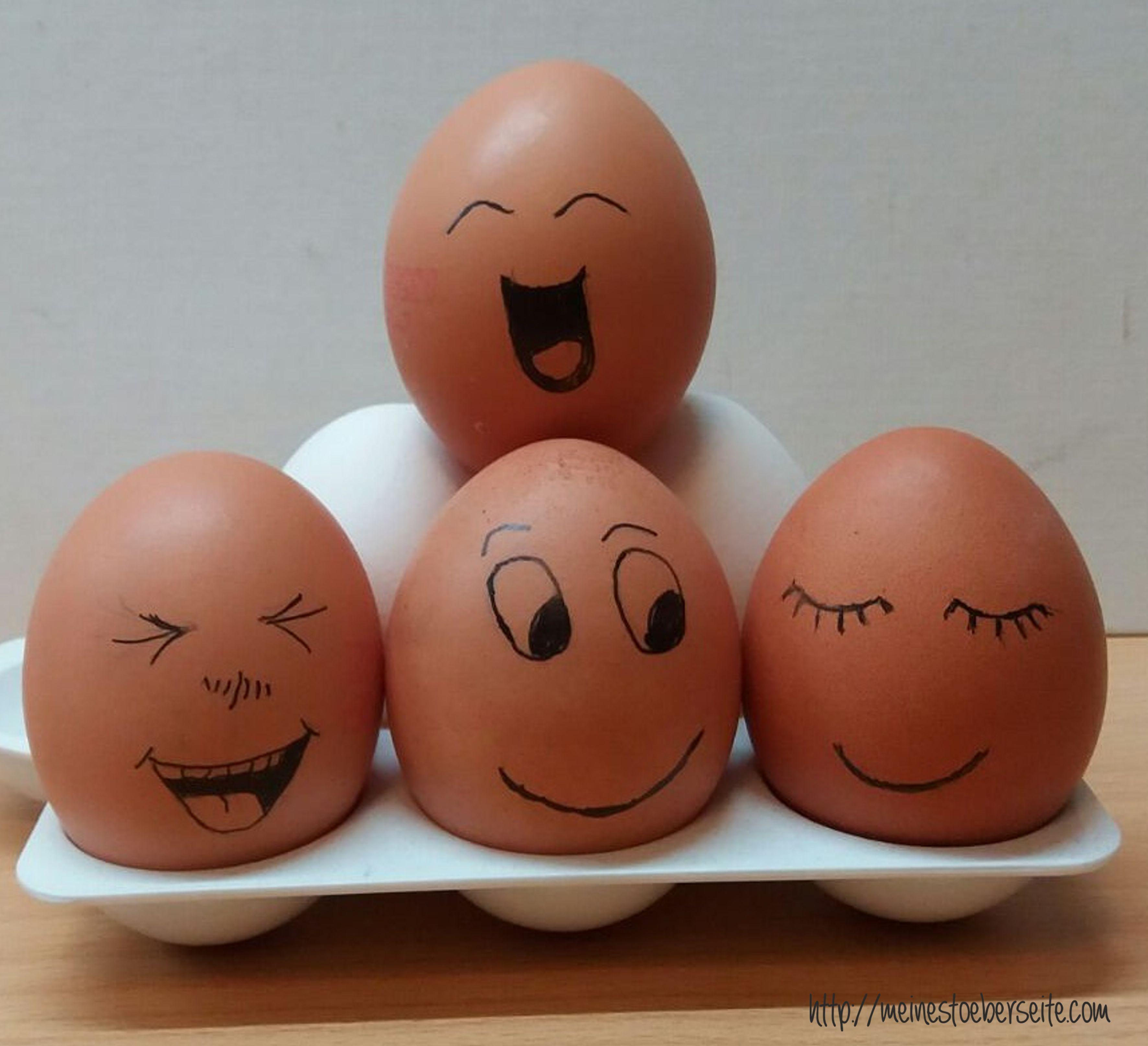 721 Eier mit Gesicht #birthdaybasket