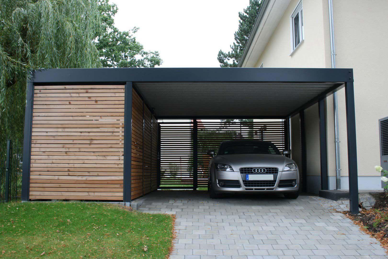 Metallcarport Stahlcarport Kaufen Metall Carport Preise Mit Abstellraum Konfigurator Design Stuttgart Moderne Garage