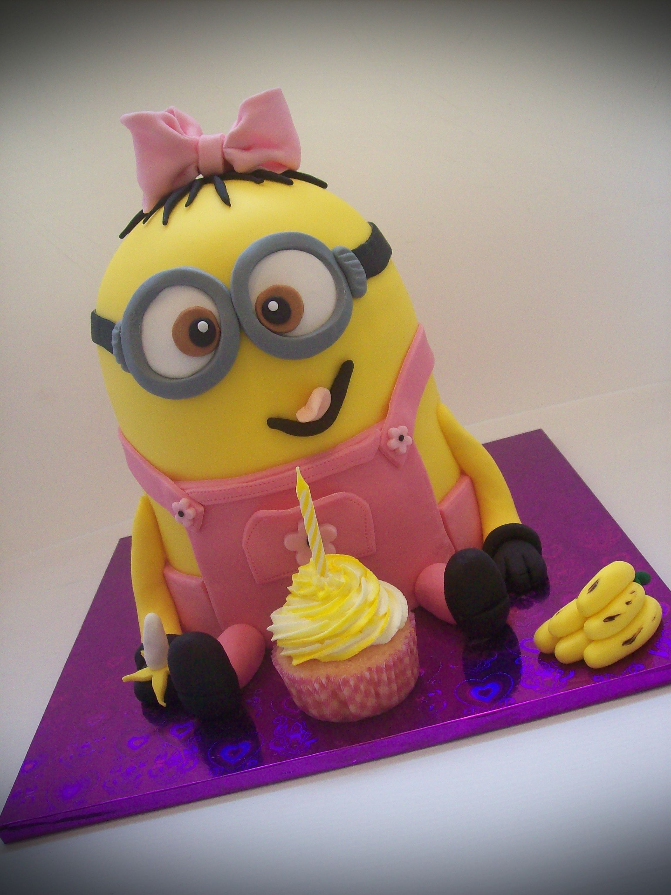 Minion Birthday Cakes For Girls Cakes and cupcakes Pinterest