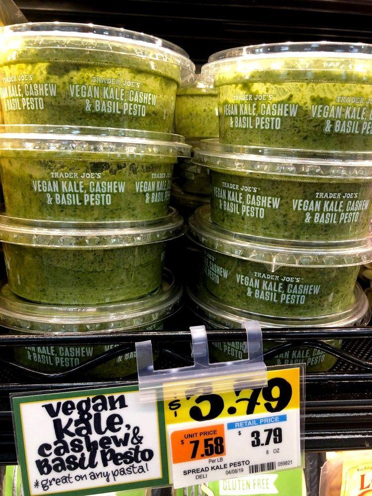 9 Creative Ways To Use Trader Joe S Vegan Pesto Pasta Is Just The Beginning Vegan Pesto Pasta Trader Joes Vegan Vegan Pesto