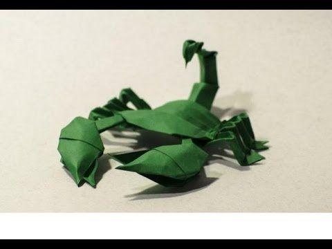 Origami scorpion modular by Javier Caboblanco - Yakomoga Origami tutorial - YouTube