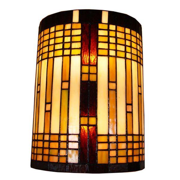 Amora Lighting Tiffany Style 2-light Geometric Wall Sconce (Amora ...