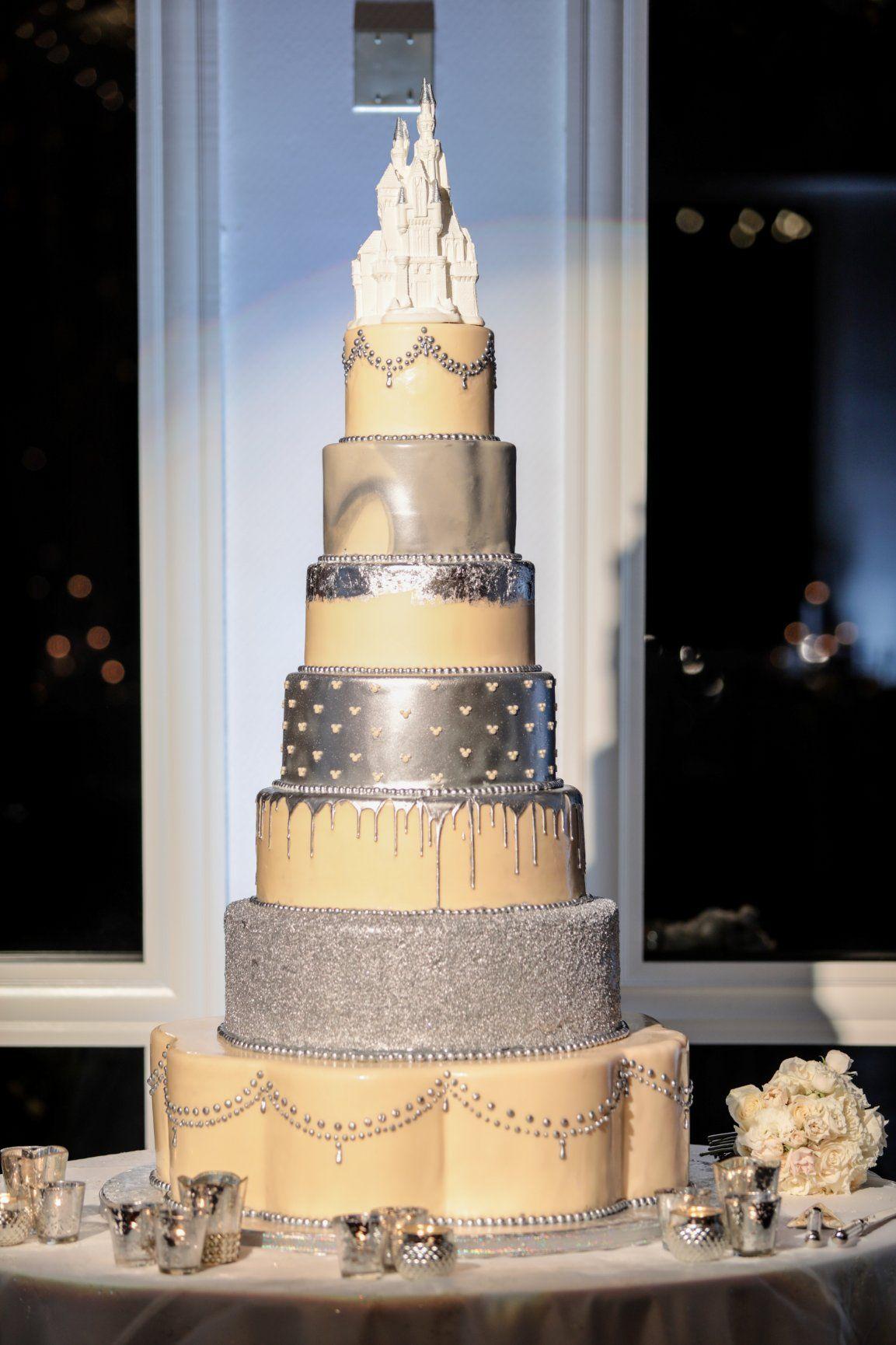 A Truly Breathtaking Wedding Cake At Disneyland