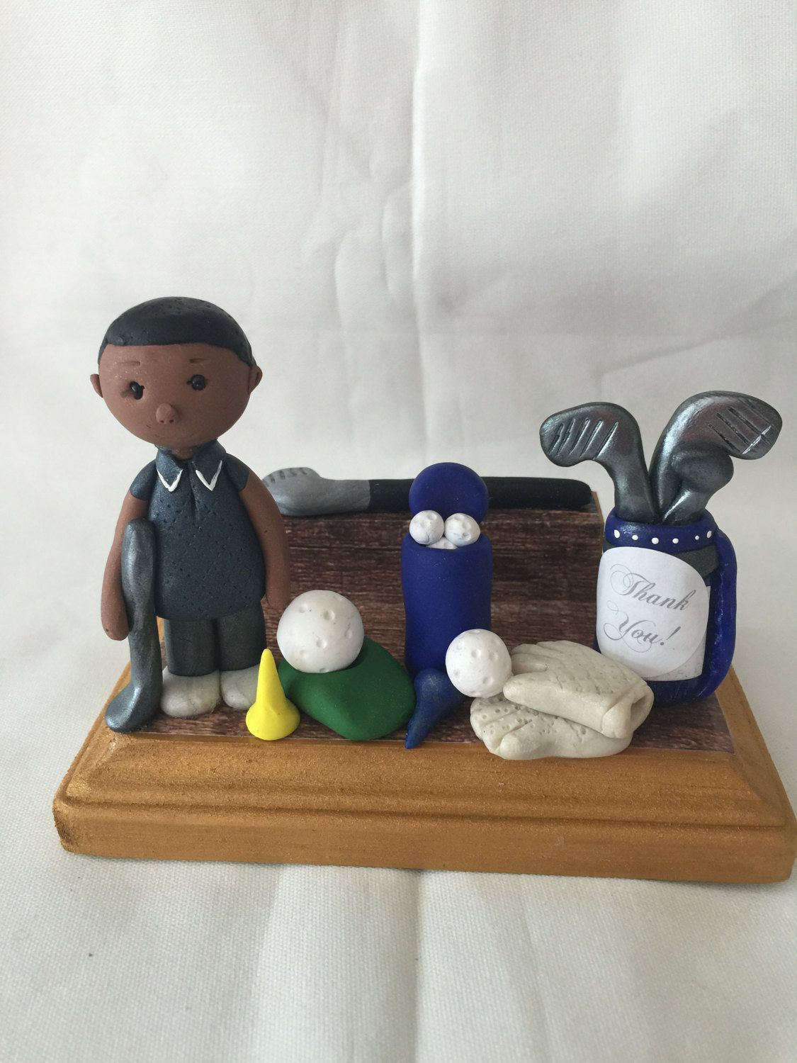 Polymer clay business card holder,handmade,professional golf player ...