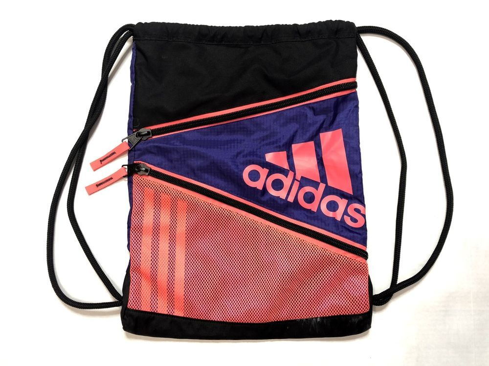 2182cb4996 ADIDAS Drawstring Bag Purple Pink Black Gym Bag No Show  fashion  clothing   shoes  accessories  unisexclothingshoesaccs  unisexaccessories (ebay link)