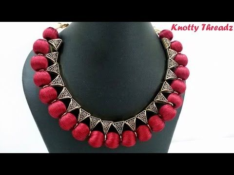 Silk Thread Jewelry Designs At Home With Easily Available Materials