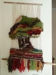 Resultado de imagen de telares decorativos arboles