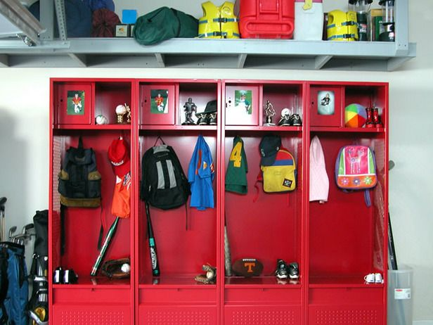 Superior GARAGE SPORTS STORAGE   Lockers For Each Kidu0027s Crap In The Garage. Yupp,  Since Our Kids Are Going To Be Athletes.