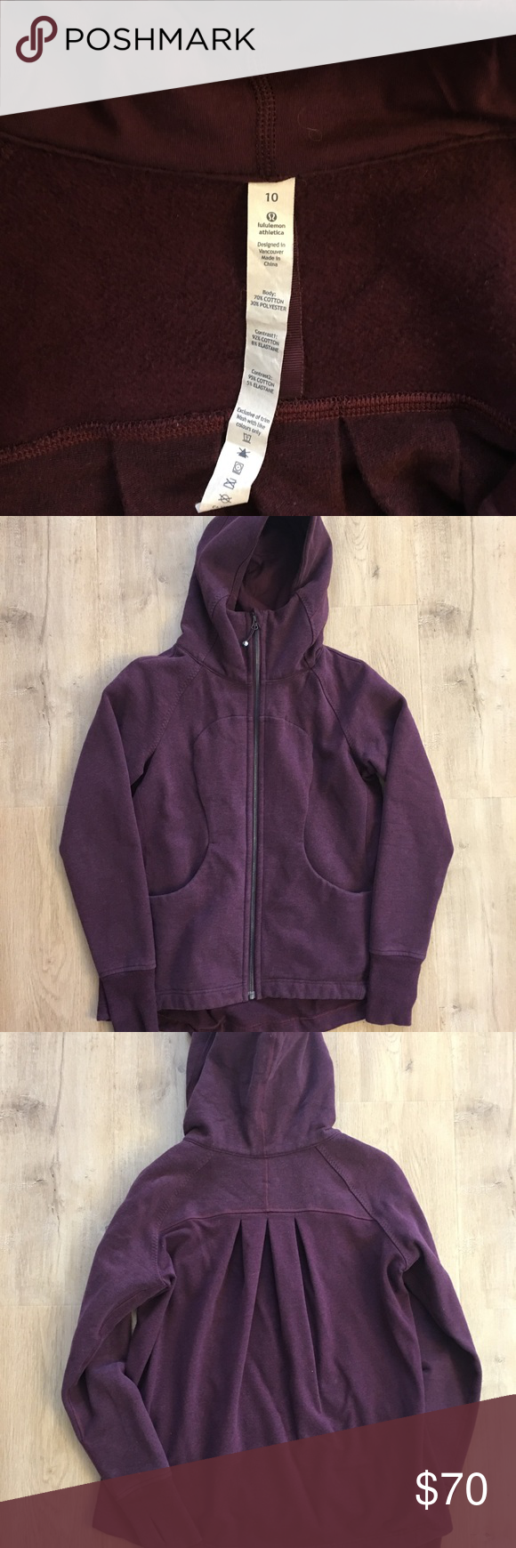 Lululemon burgundy hooded sweater | Hooded sweater, Lululemon and ...