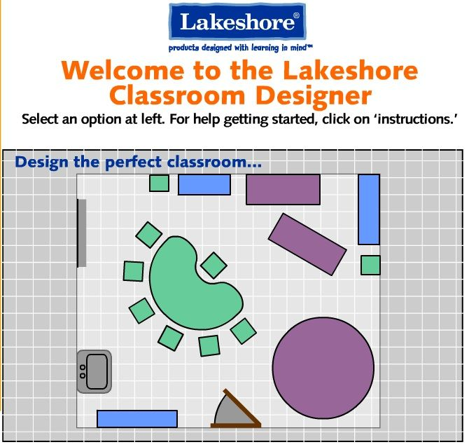 Interactive Classroom Design Tools ~ Classroom designer from lakeshore learning with this