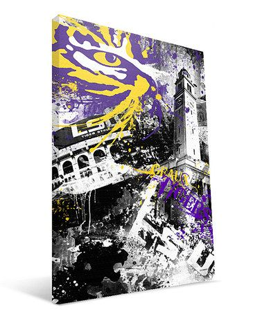 Take A Look At This Lsu Spirit Wall Art By Paulson Designs On Zulily Today Art Stretched Canvas Wall Art Canvas Prints