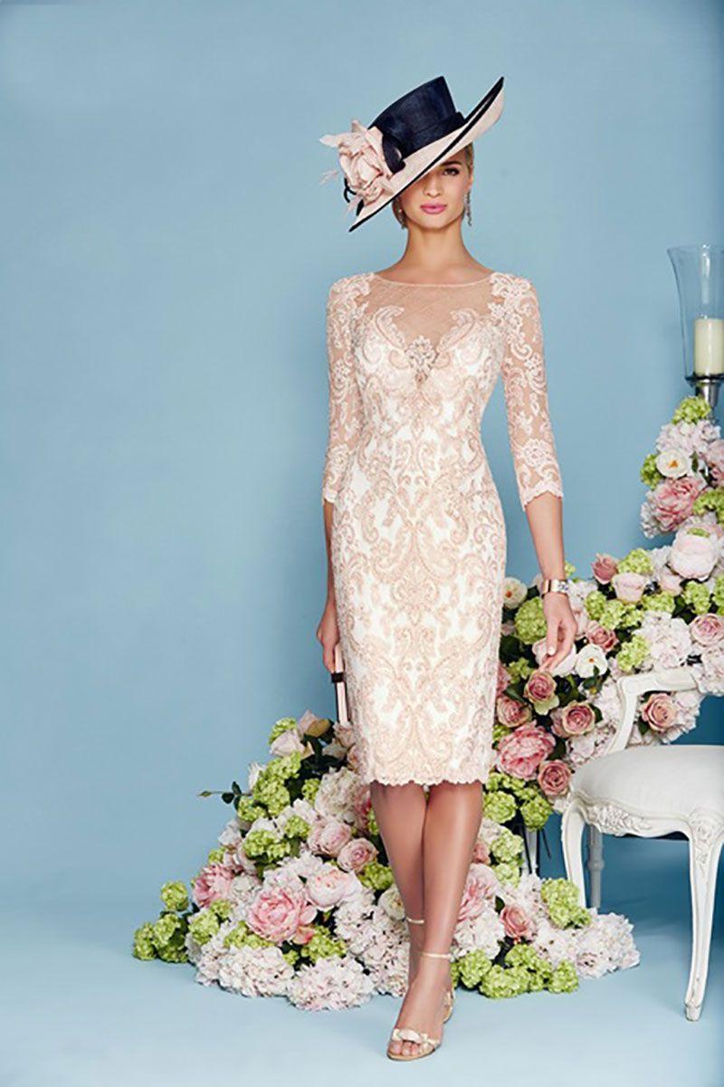 Veni infantino short embellished dress with chiffon coat