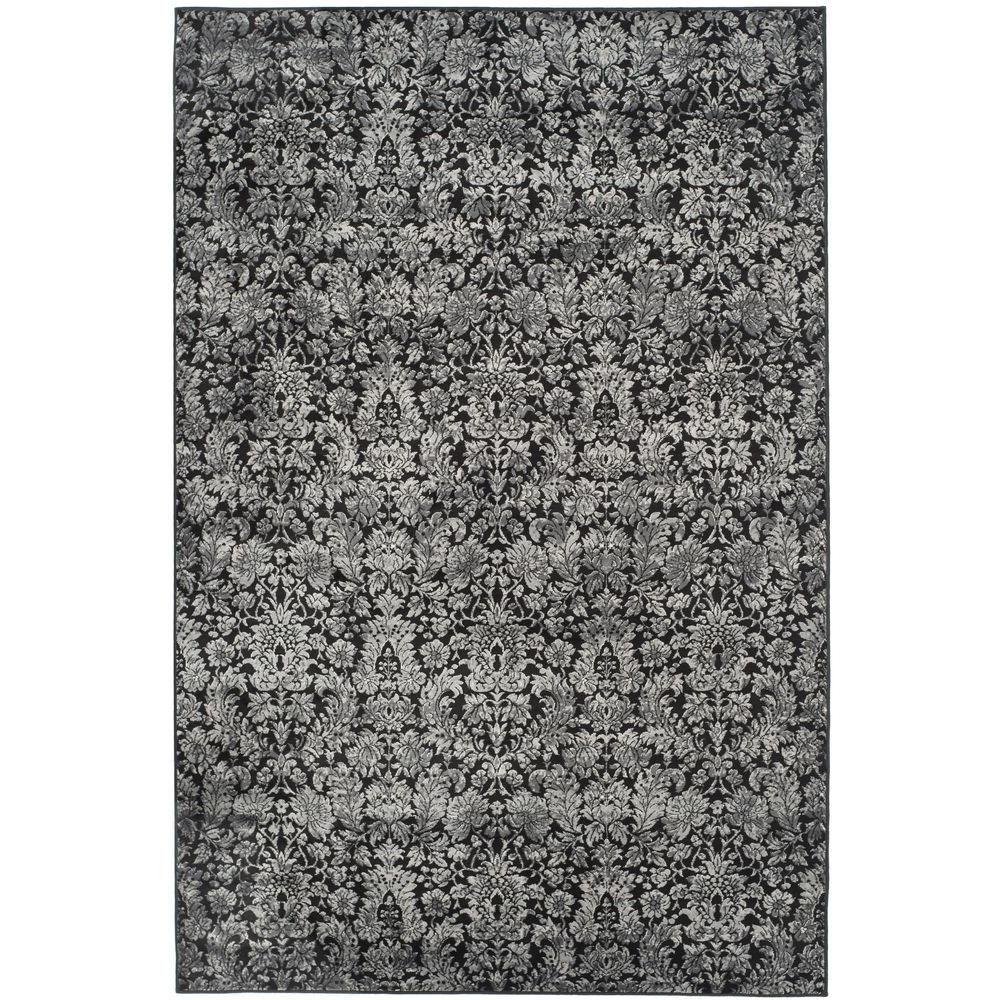 Vintage Black/Light Grey 5 ft. 1 in. x 7 ft. 7 in. Area Rug