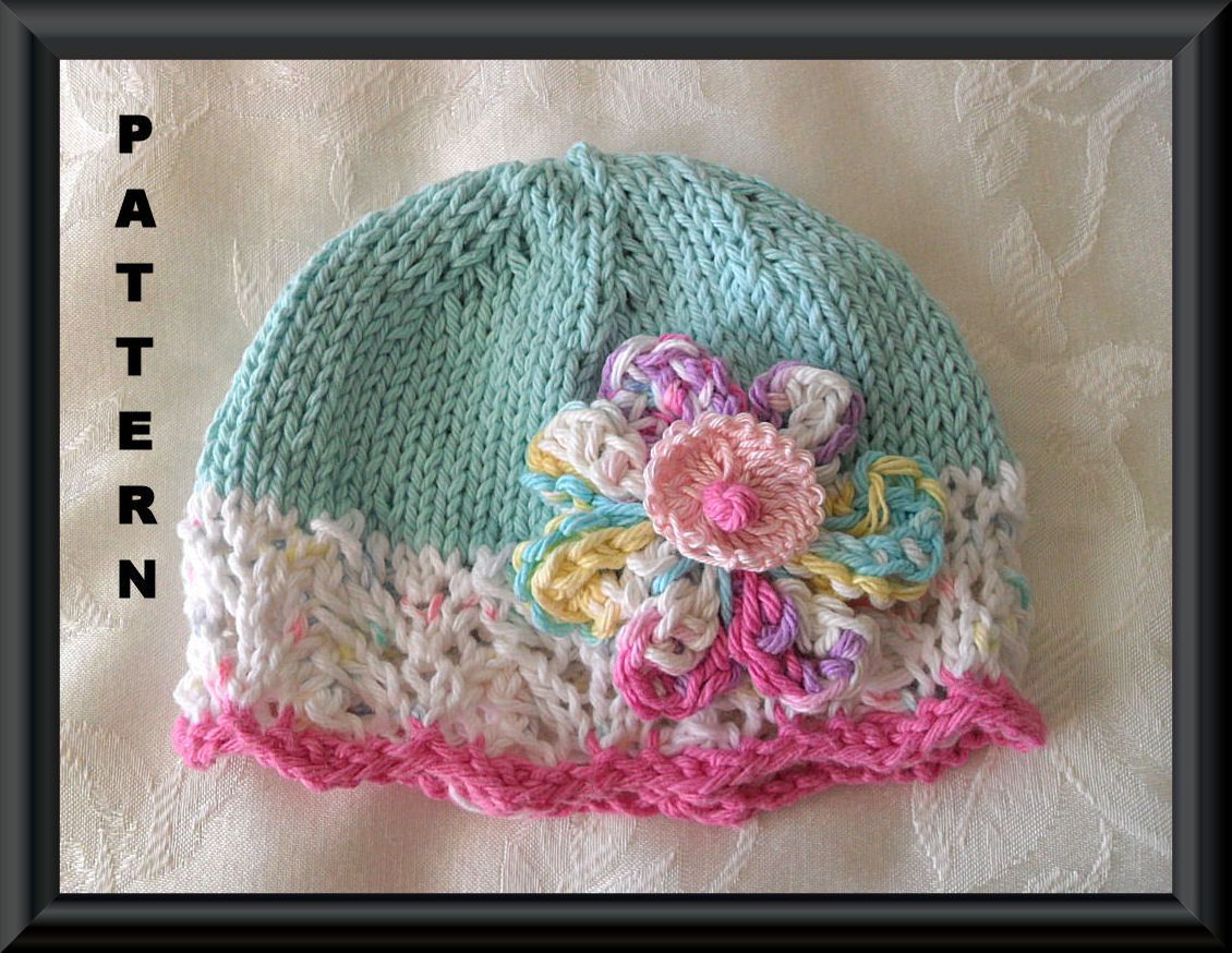 Knitted Hat Patterns Baby Hat Pattern Instant Download BabyHat ...