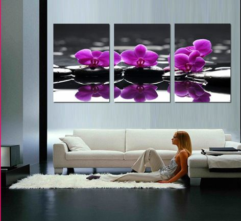 Cheap spa wall decor buy quality canvas art directly from china painting abstract suppliers spa wall decor orchids on pebbles top quality canvas oil