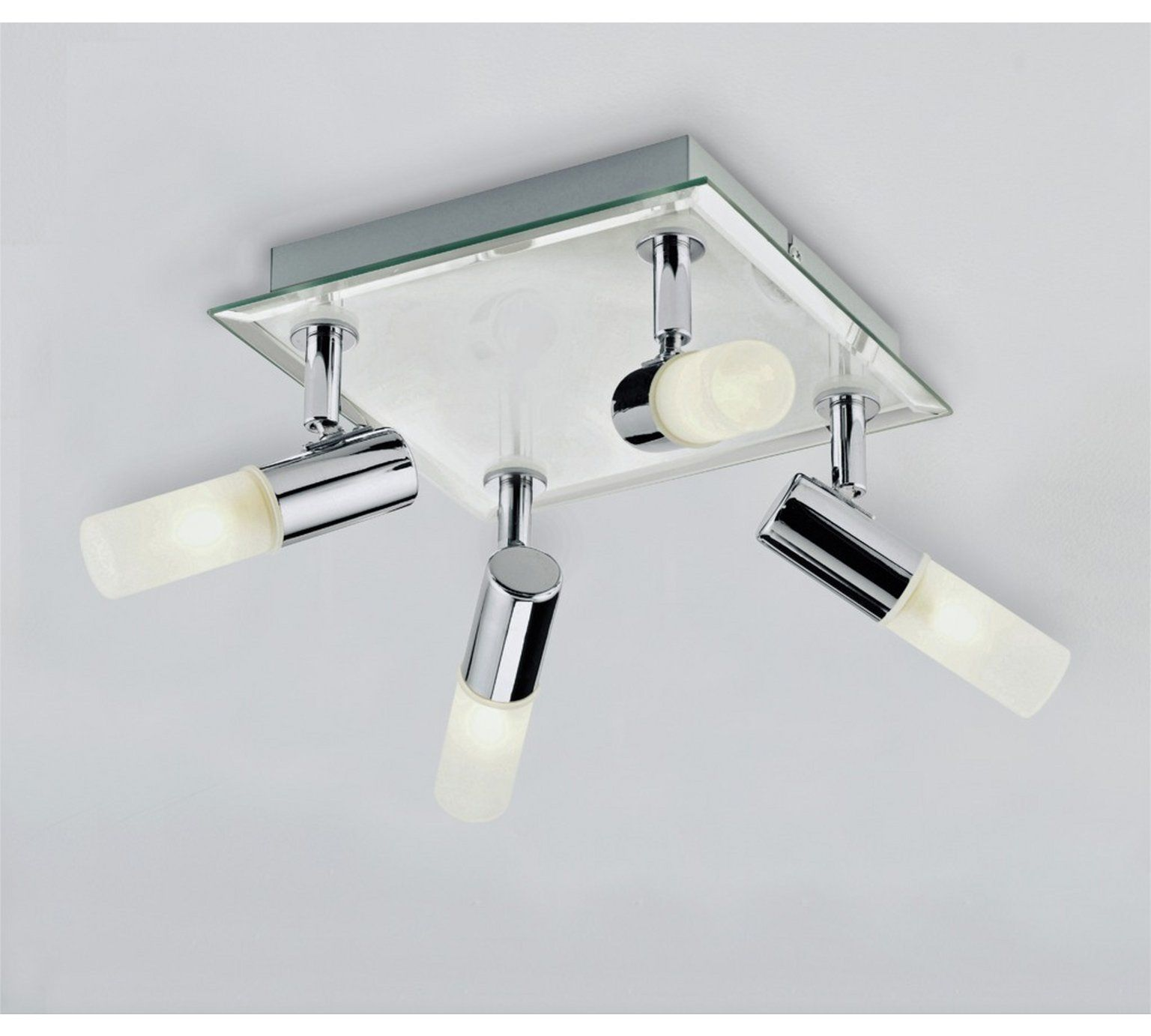 Argos Home Milano 4 Light Square Bathroom Spotlight