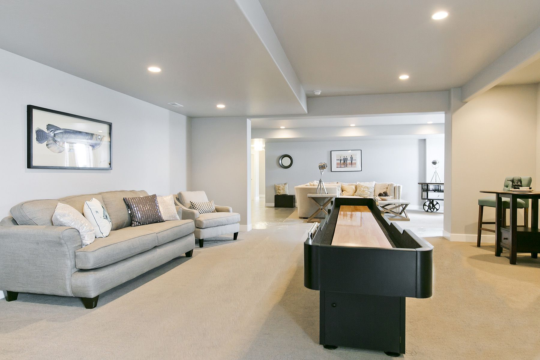 Family Game Room In Basement In Aria Home Design By Symphony Homes