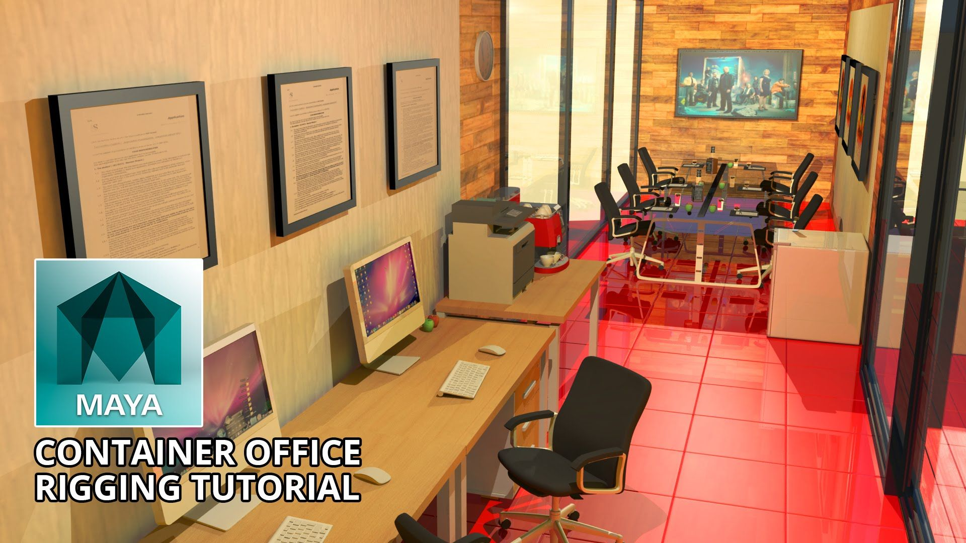 Architecture - Autodesk Maya - Container Office Rigging Tutorial (Free 3...