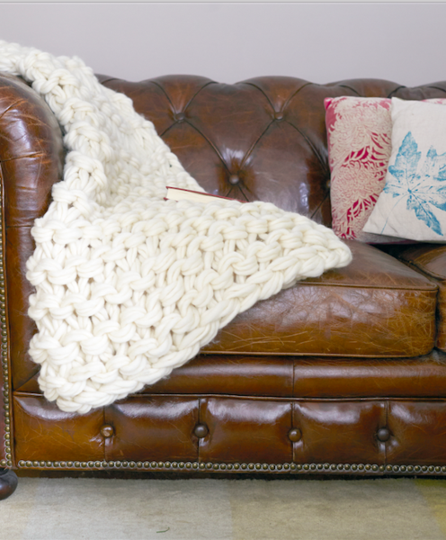 Arm knit chunky garter stitch blanket kit solutioingenieria Images