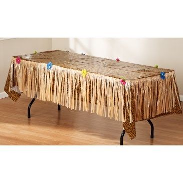 Grass Table Skirt Maybe You Could Diy With Brown Paper Bags