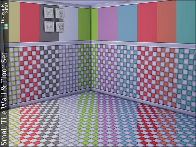 Small Tile Wall & Floor Set | TS4 Build Mode - Floors | Pinterest ...