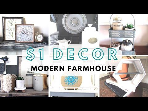 Photo of EASY $1 MODERN FARMHOUSE Home DECOR Inspiration Projects That You Can Make FAST!Dollar Tree DIY 2020
