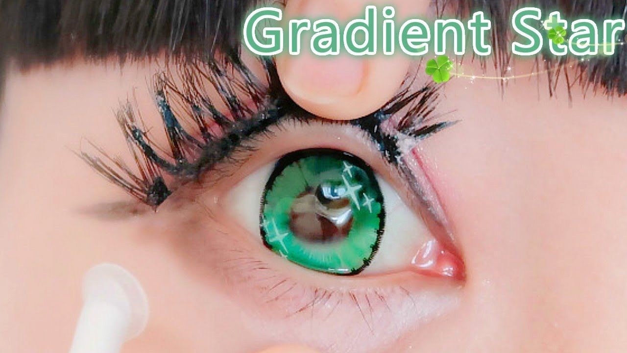 The Prettiest Gradient Star Circle Lenses Circle Lenses White Contact Lenses Lenses