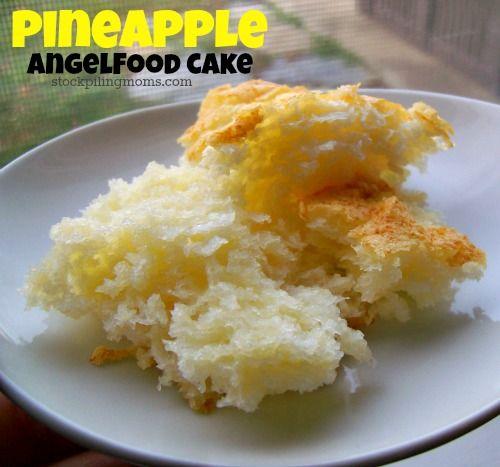 Lemon Lush Angel Food Cake