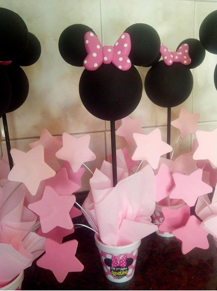 Centro de mesa minnie mouse cumpleanos infantiles cumplea os minei pinterest Mesa de cumpleanos infantil
