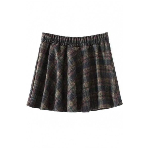 Zipper Front Skater Plaid Mini Skirt (286.435 IDR) ❤ liked on Polyvore featuring skirts, mini skirts, plaid skirt, mini skater skirt, skater skirt, plaid miniskirt and tartan plaid mini skirt