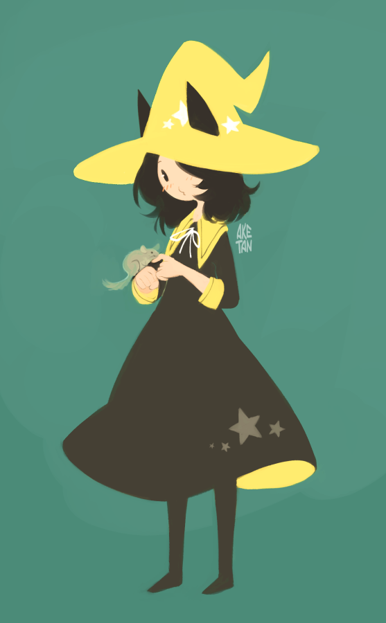 A witchsona i drew based on generator description aketan is a witch of light