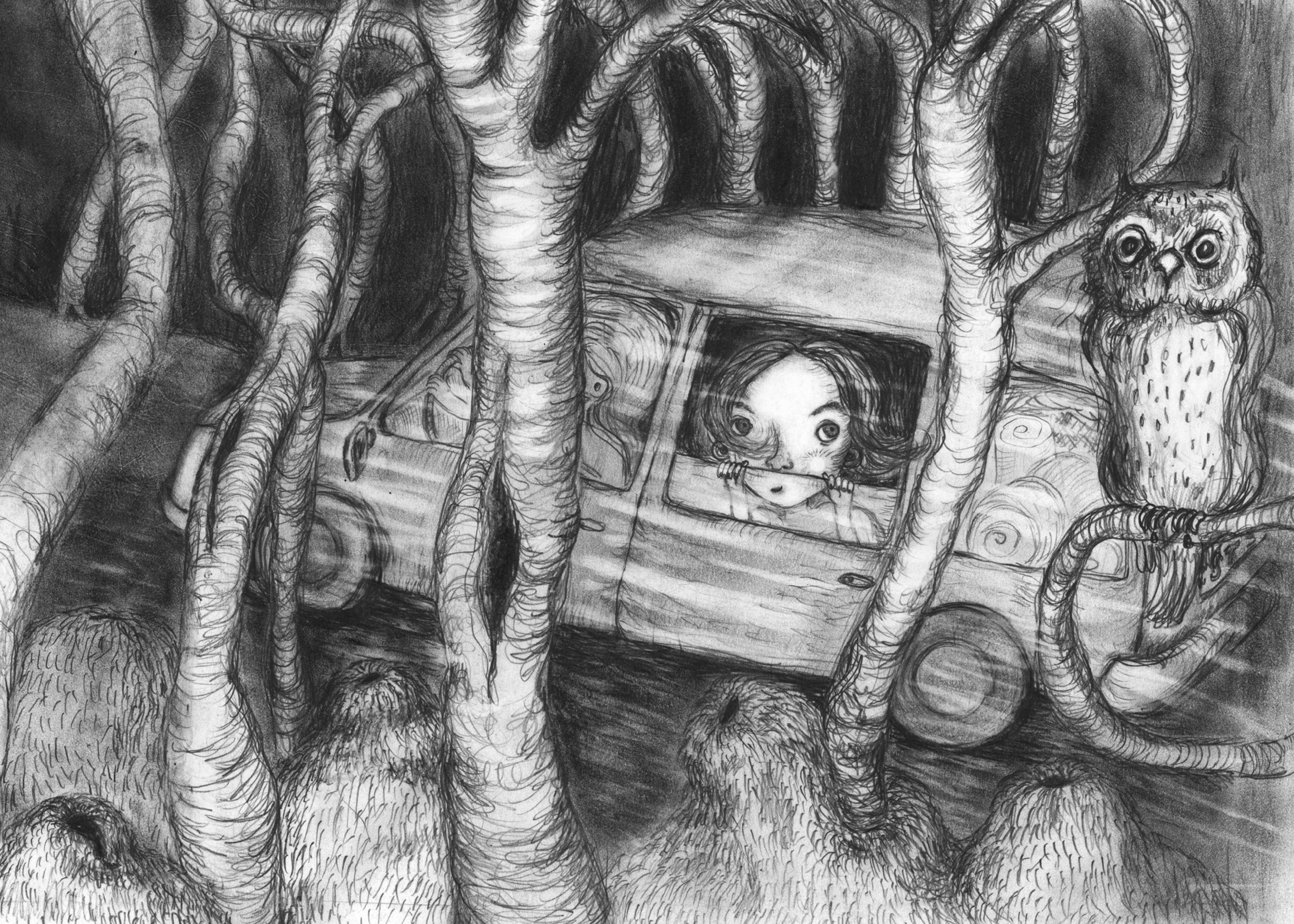 """Illustration til første del af bogserien """"Tove tænker"""" Den hedder """"Dobbelt så gammel"""" og er skrevet af forfatter/writer Mette Vedsø. Henvender sig til børn i alderen 8-10 år"""