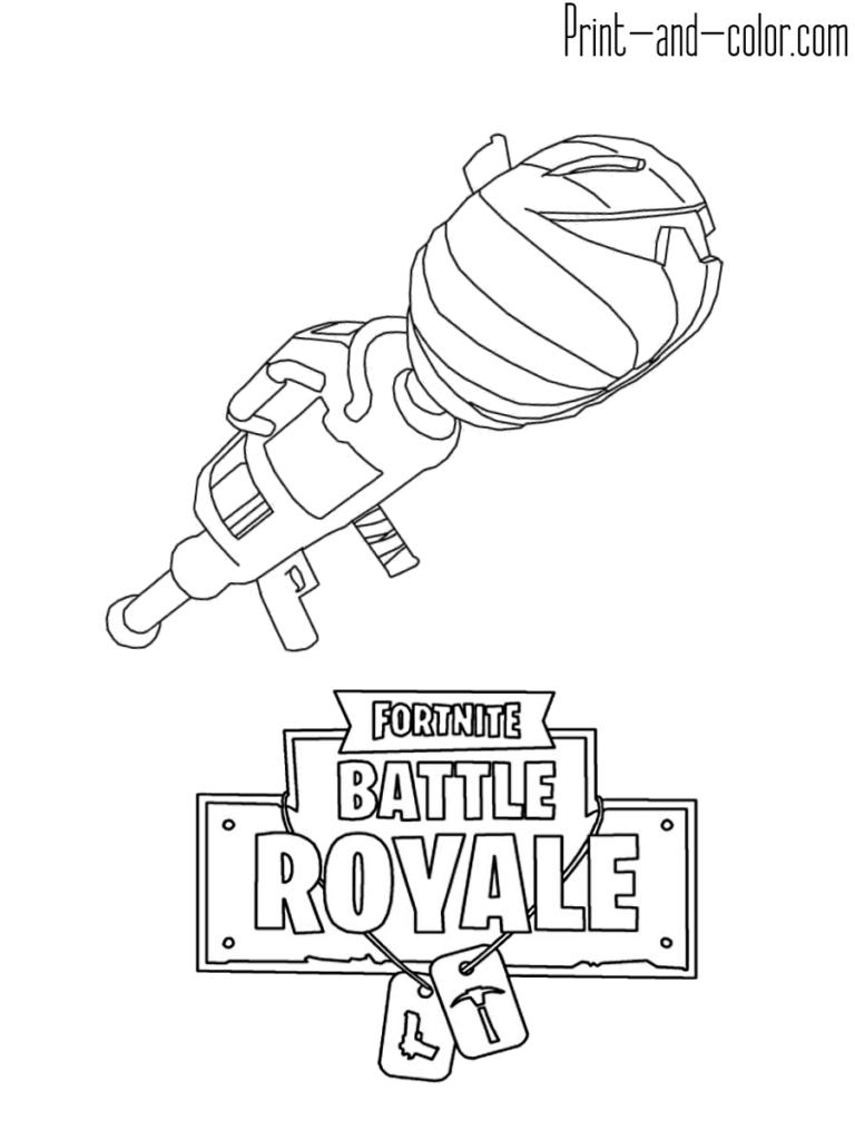 Fortnite battle royale coloring page ROCKET LAUNCHER
