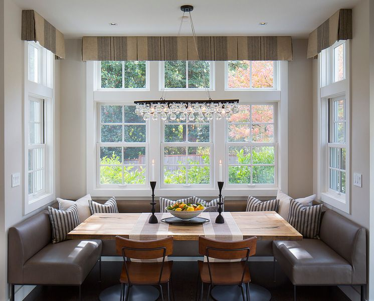 A Ranch House Gets A Makeover For Family Dinners A Three Sided Banquette Is Just Outside Th With Images Wooden Kitchen Table Booth Seating In Kitchen Kitchen Table Bench