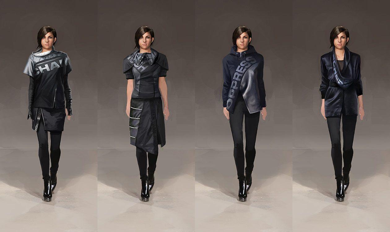 Women's Fashion Designs from Deus Ex: Mankind Divided