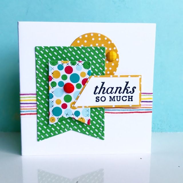 mini thank you card my craft pinboard pinterest craft