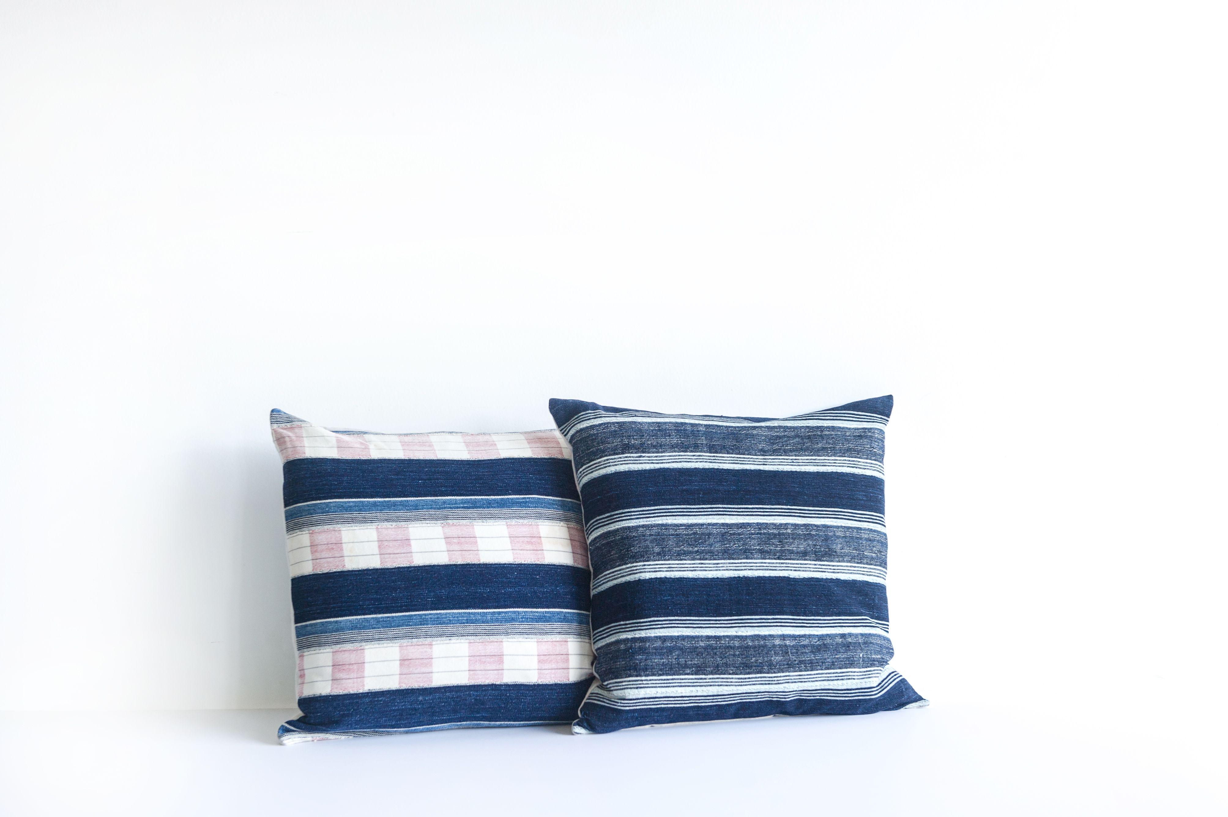 vintage african indigo pillows