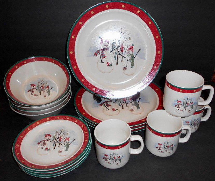 Used 16 Piece Royal Seasons Stoneware Dinnerware Set ...