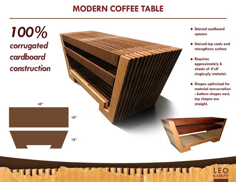 Elegant instructions for making your own cardboard furniture Leo Kempf Cardboard Furniture