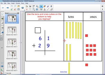 Double Digit Addition With Regrouping Interactive Base Ten | Math ...