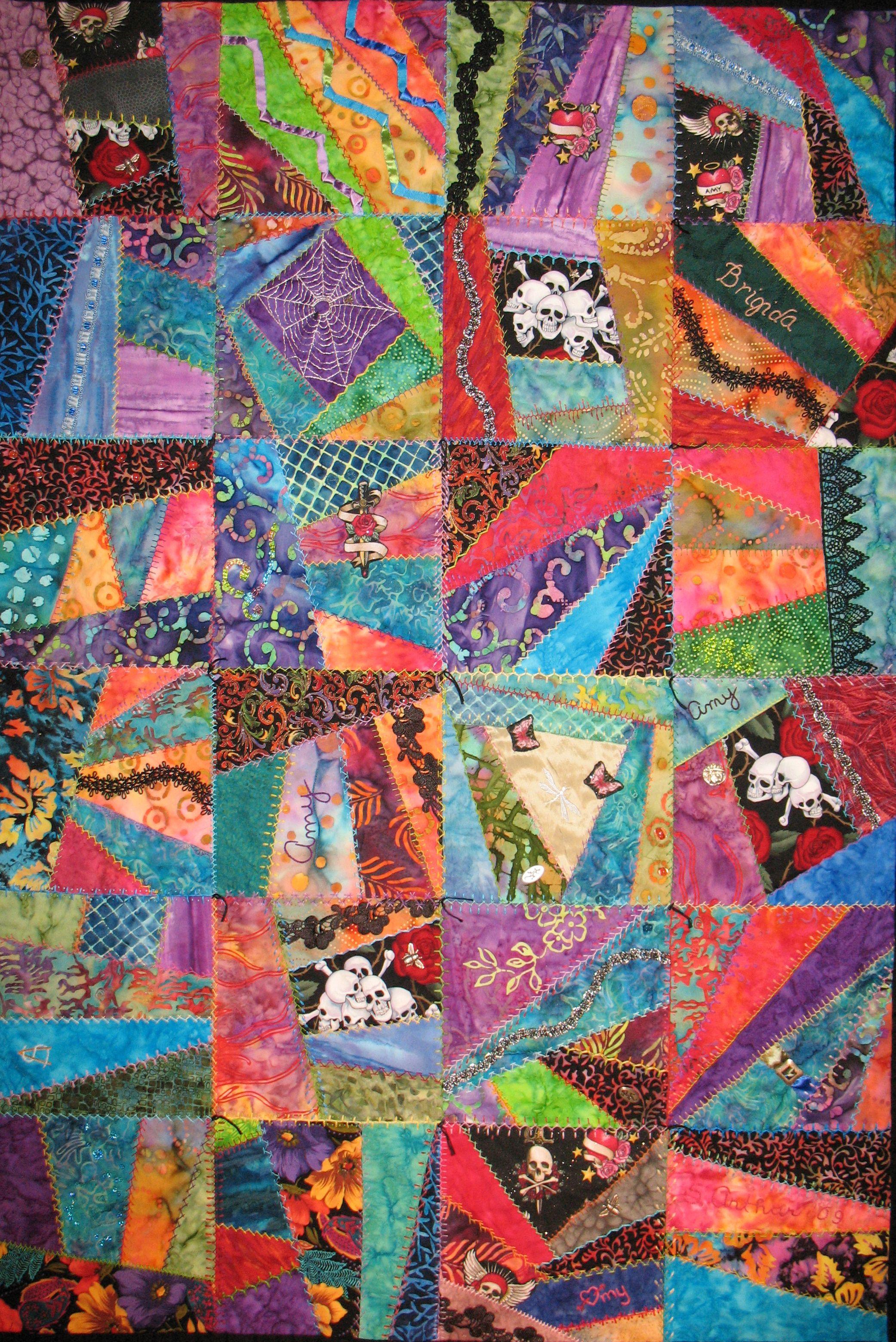 day of the dead quilts | Brigida's Quilt | Crazy, Baby! Quilts ... : day of the dead quilt pattern - Adamdwight.com