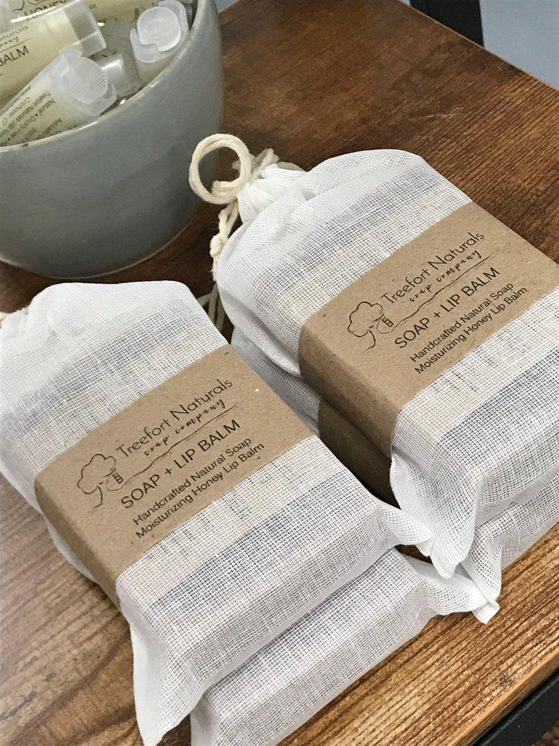 Soap Gift Set - Soap & lip balm, stocking stuffer, Hostess Gift, Holiday Gift, Teacher gift #soappackaging