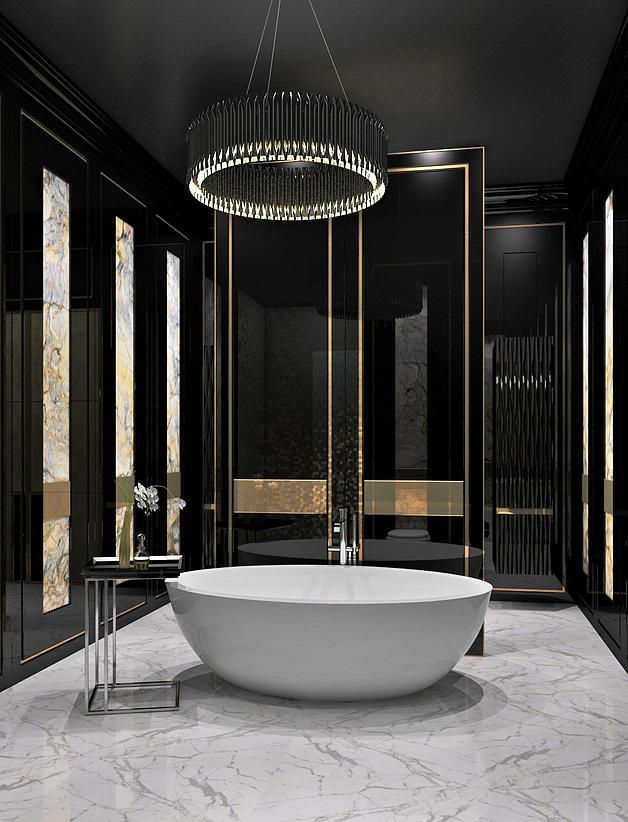 Check Out This Bathroom And The Sleek Black And Gold Theme Http Www Remodelworks Com Bathroom Design Luxury Top Bathroom Design Bathroom Interior Design