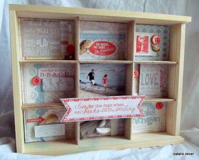Altered Flower Box Shadowbox by Authentique Paper Design Team Member Natalie Dever