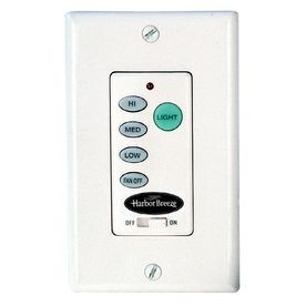 Harbor Breeze White 3 Sd Combination Fan And Light Control