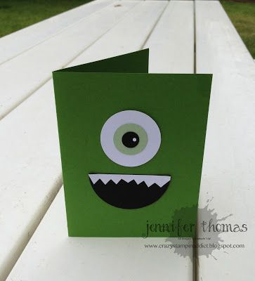 Card Invitations Monsters Inc Crafts Monster Inc Party Monster Crafts