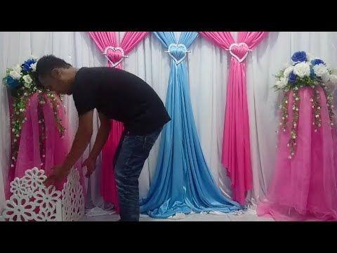 4 cara memasang dekorasi kain backdrop tunangan aqiqah dan