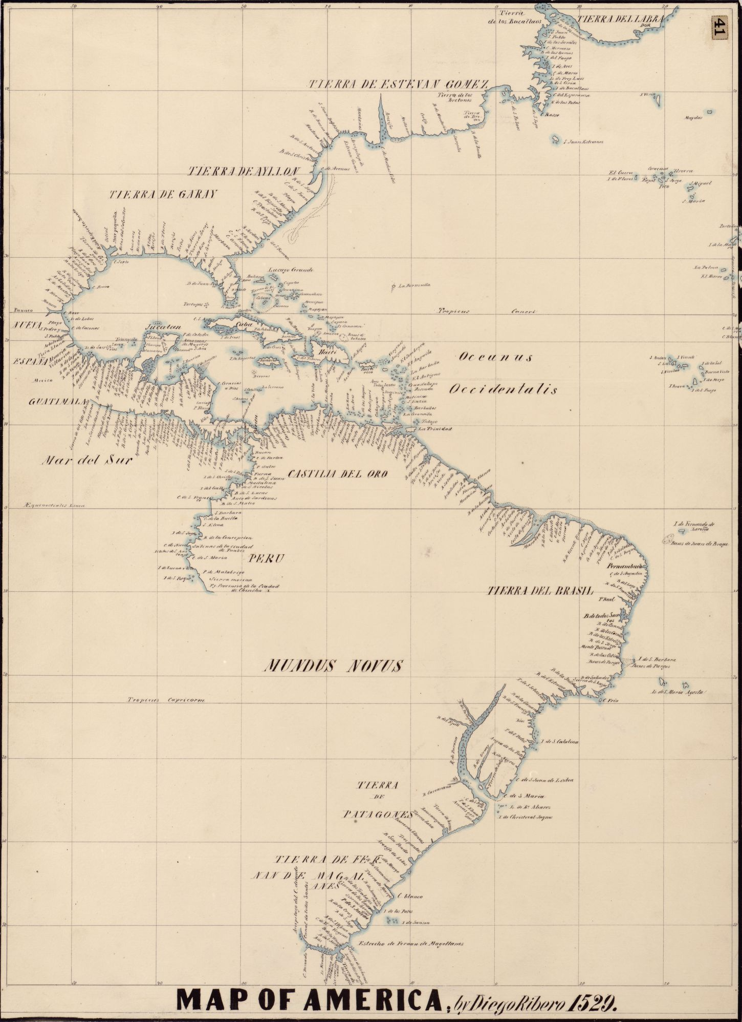 Map Of America By Diego Ribero Geography Pinterest - 19th century japanese map of us