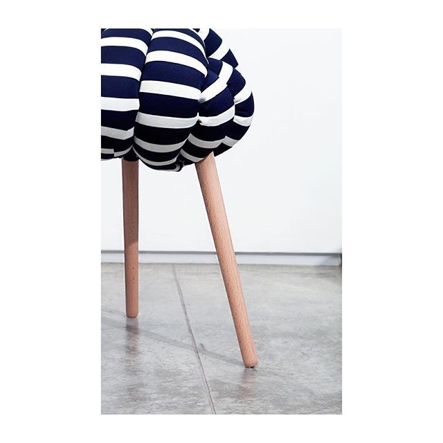 stripy knot stool by knots studio